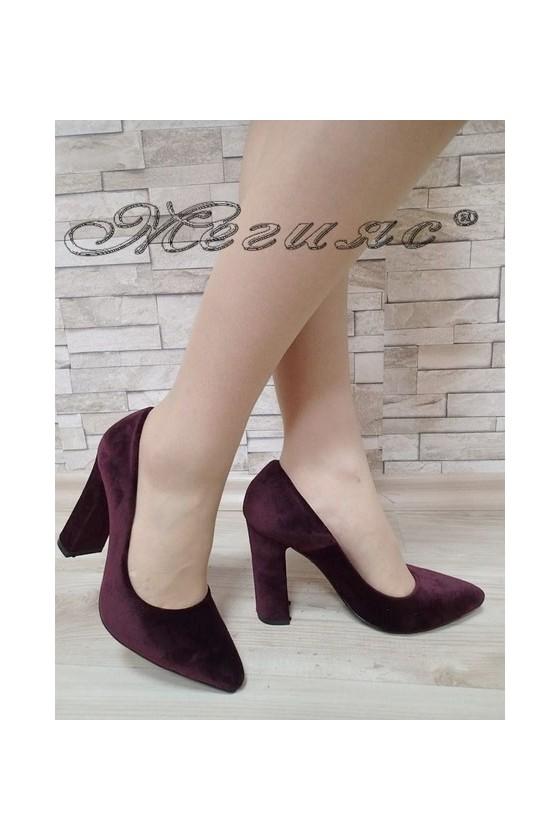 Lady elegant shoes 542 bordo