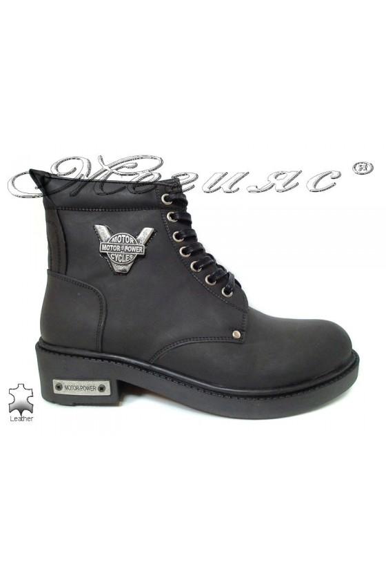 Men's boots 980 black leather