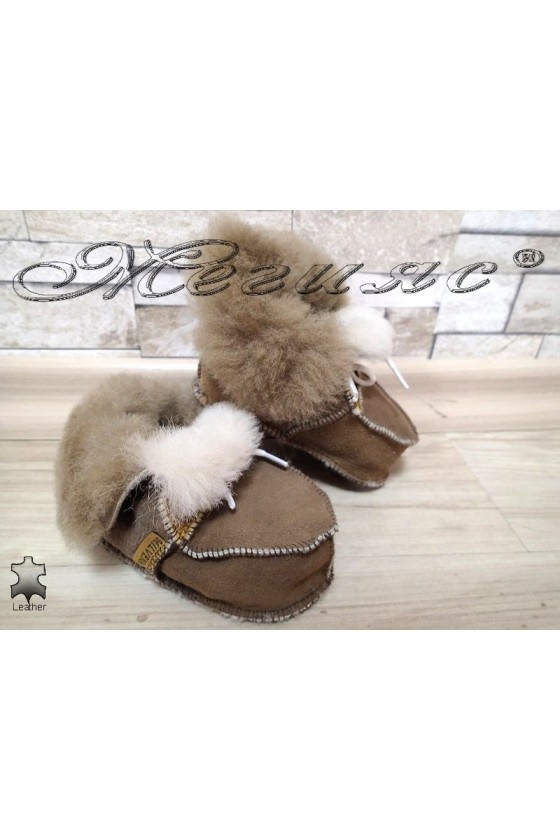 Children's slippers 13 leather