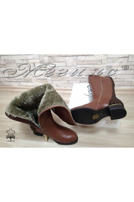 Lady boots VICTORIA 15543 brown leather