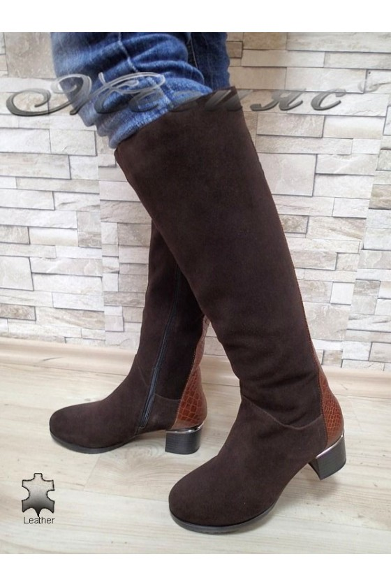 Lady boots VICTORIA 15518 brown leather