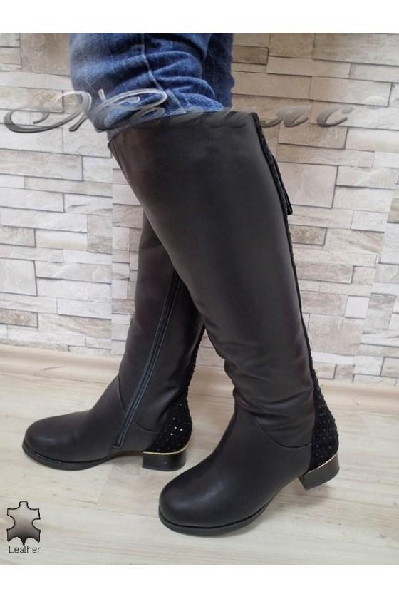 Дамски ботуши Victoria 15544 черни естествена кожа