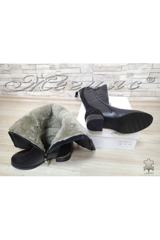 Lady boots VICTORIA 15544 black leather