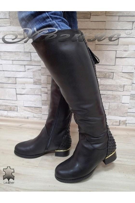 Дамски ботуши Victoria 15542 черни естествена кожа