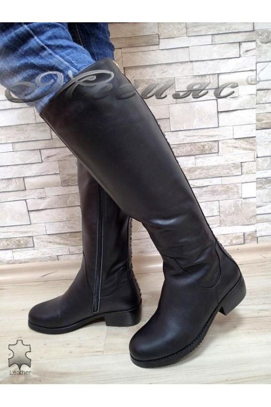 Дамски ботуши Victoria 15536 черни естествена кожа