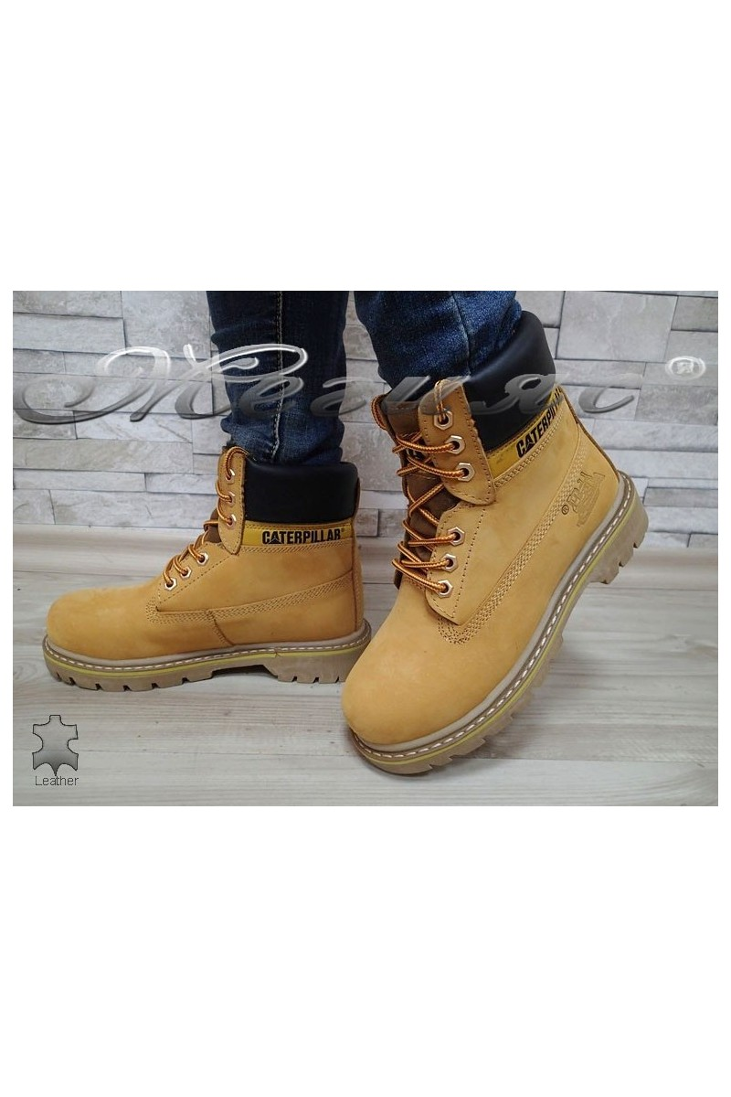 Boots 05 CAT yellow leather