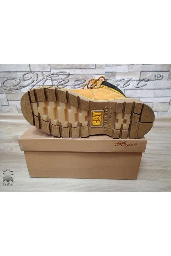 Боти 05 САТ жълти от естествена кожа