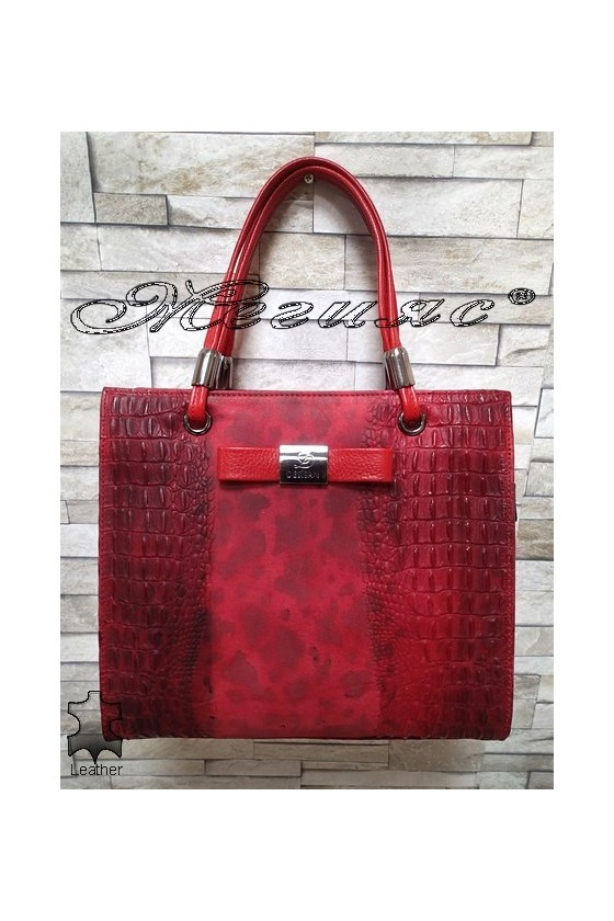 Bag 2921 red leather