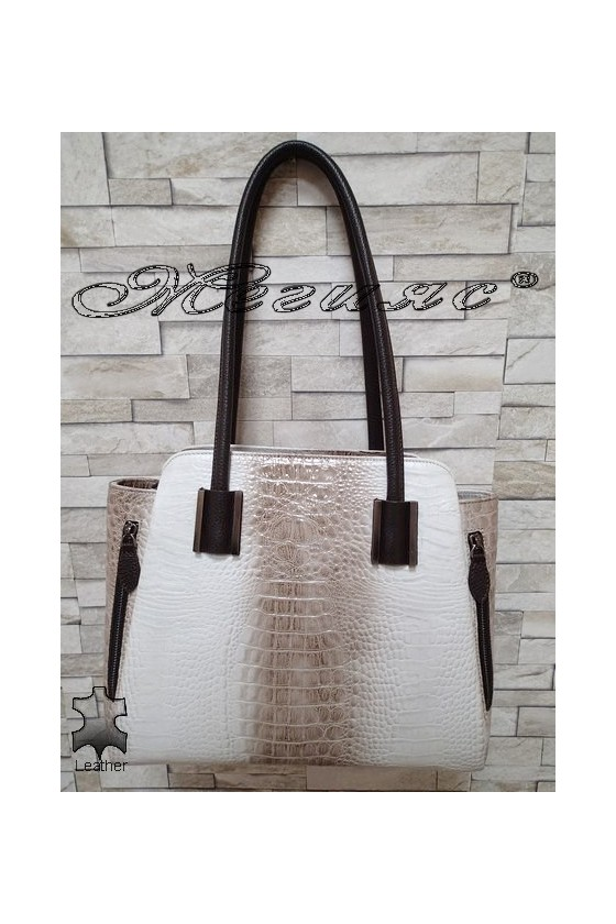Bag 7132 beige leather