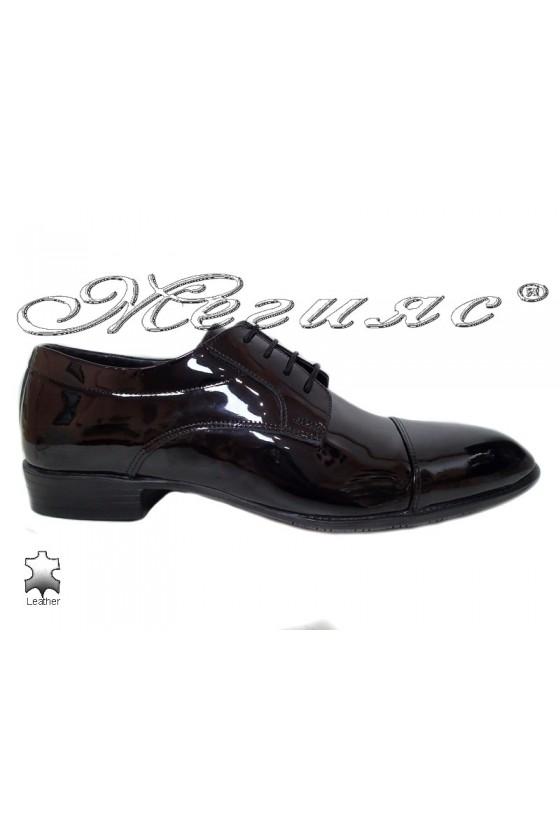 Men's shoes 18142 black leather