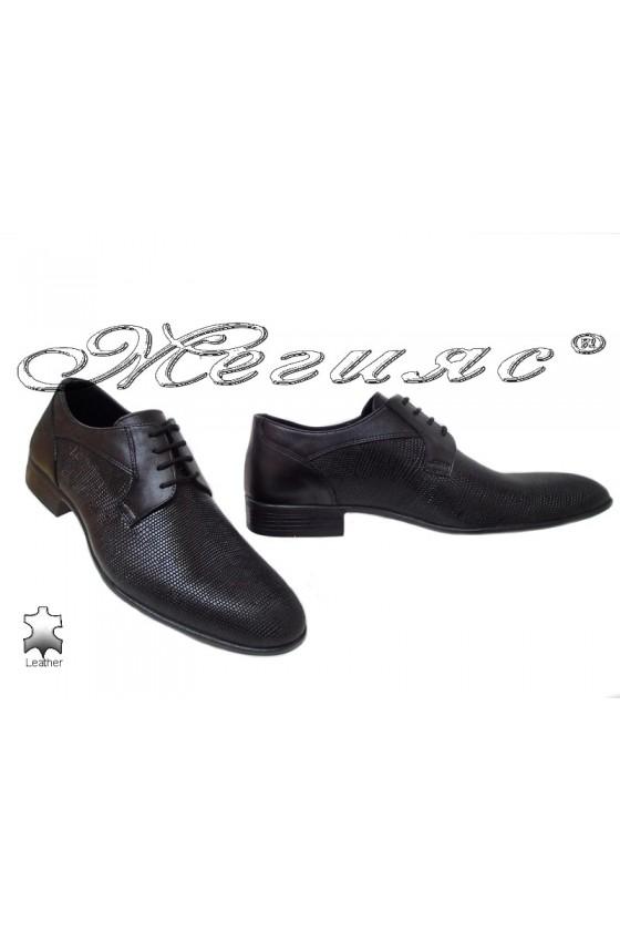Мъжки обувки Фантазия 18003-224 черни естествена кожа елегантни