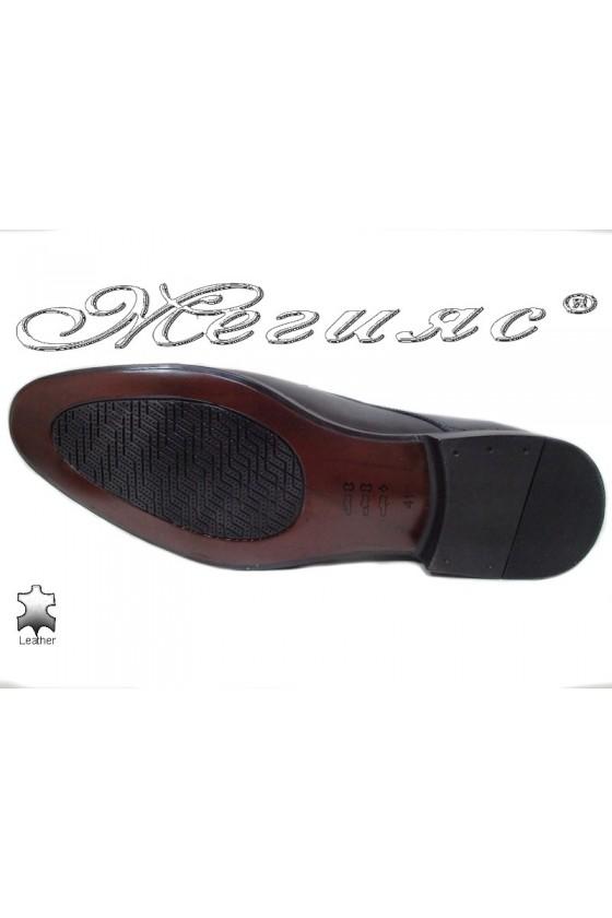 Men elegant shoes 18020 black leather