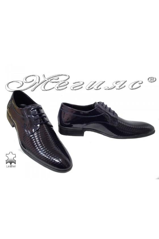 Мъжки обувки Фантазия 18021 сини естествена кожа елегантни