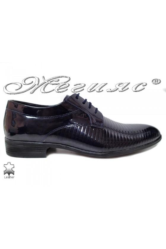 Мъжки обувки Фантазия 18021-219 сини естествена кожа елегантни
