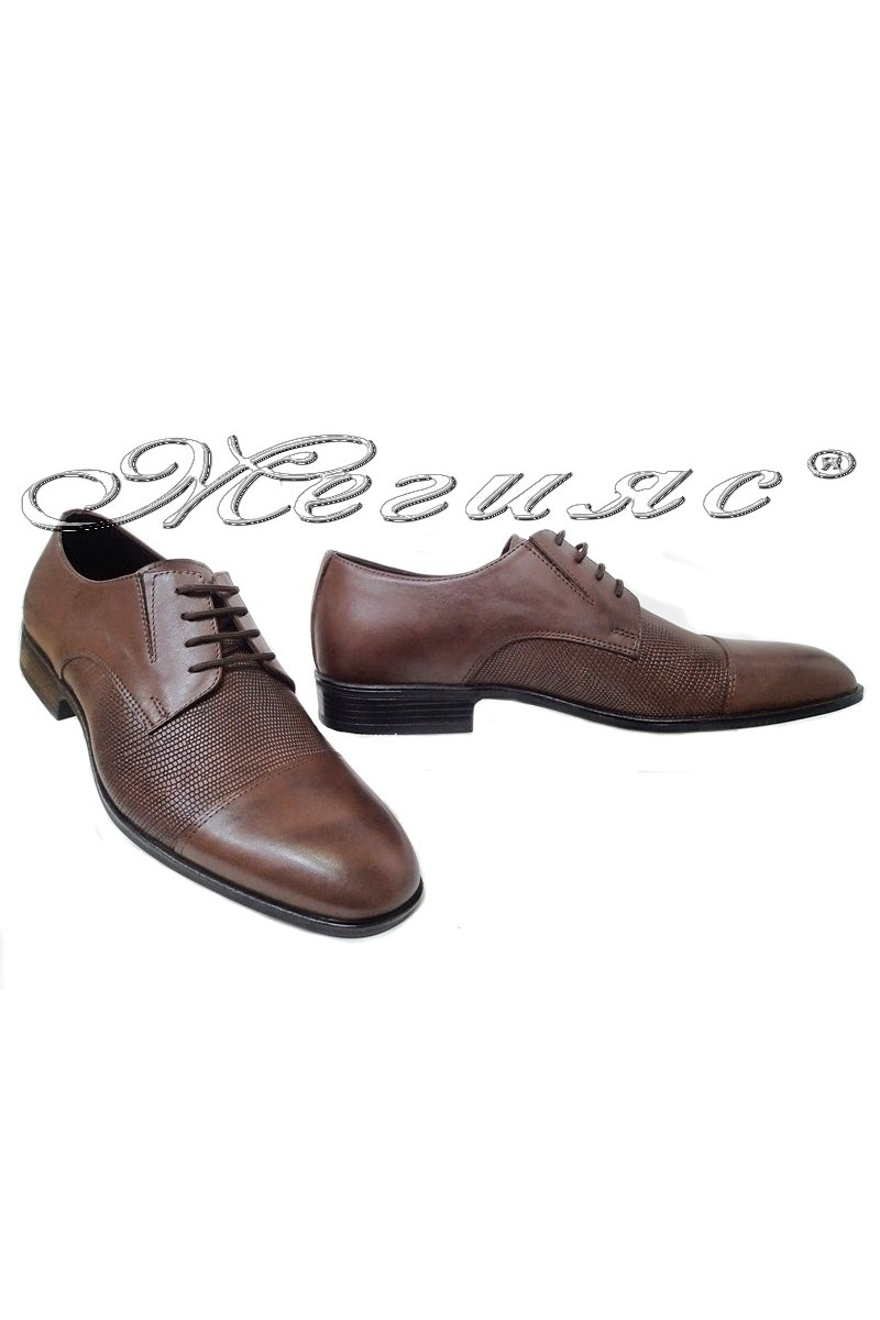 Men shoes Fantazia 18102-224 brown leather
