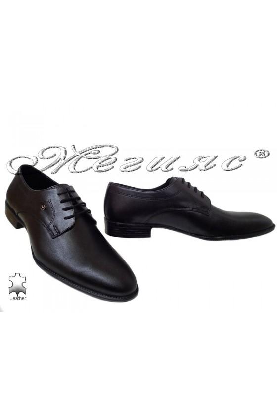 Мъжки обувки Фантазия 18140 черни естествена кожа елегантни