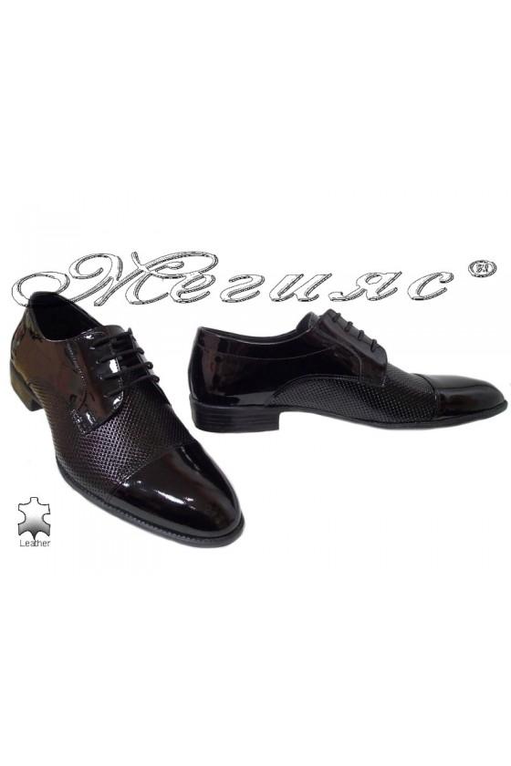Men elegant shoes 18142-179 black leather
