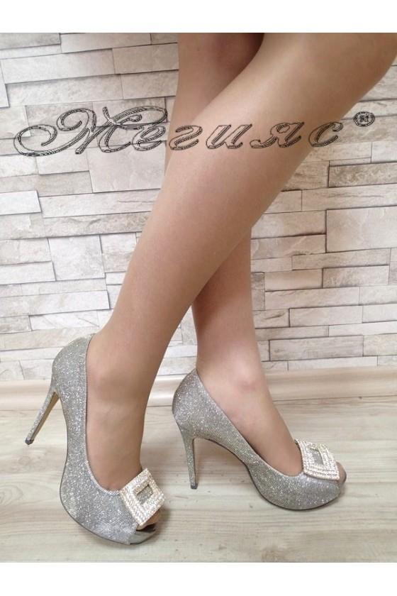 Дамски обувки Jeniffer S1720-63 бронз елегантни с висок ток