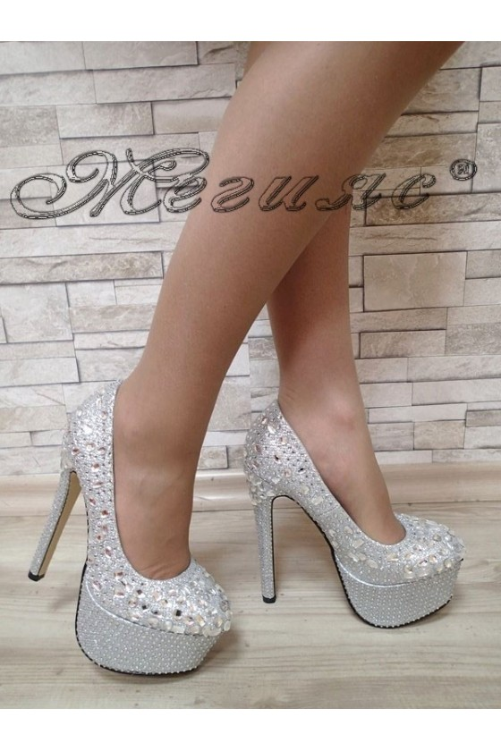 Lady shoes silver 114-300/2016-104/15-203