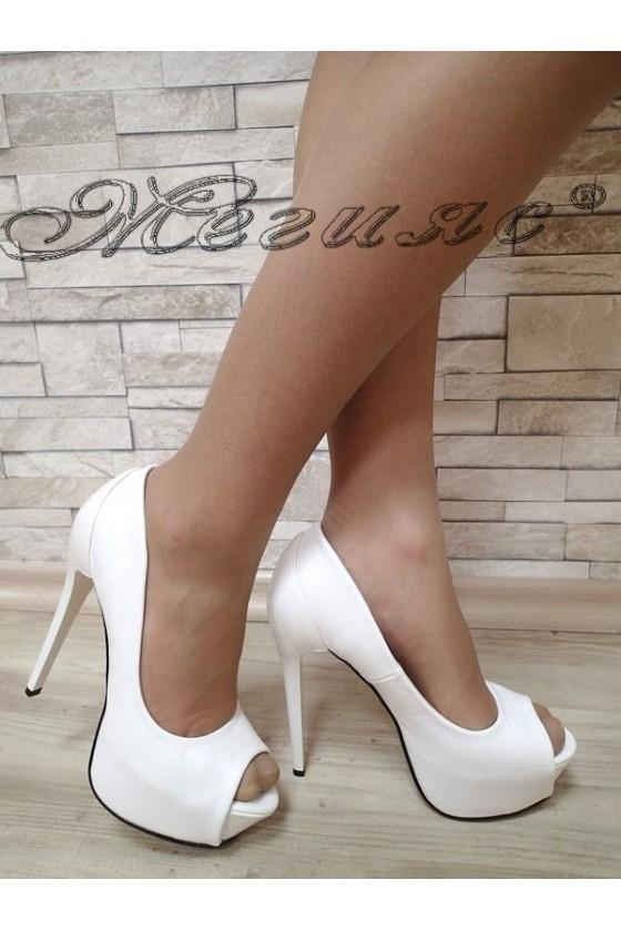 Lady shoes 20S16-105 white pu