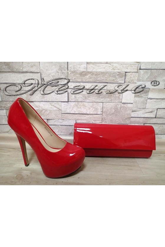 Lady shoes  JESS S1720-39 red patent with bag 373