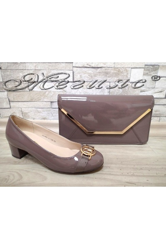 Lady shoes S1720-73 taupe with bag 74