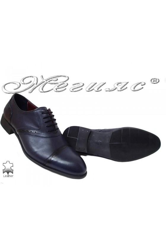Men shoes 1650 blue leather