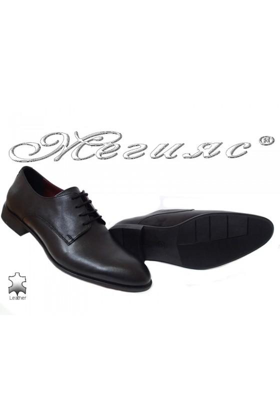 Men shoes 1656 black leather