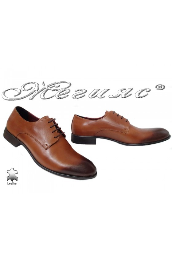 Men shoes 1656 brown leather