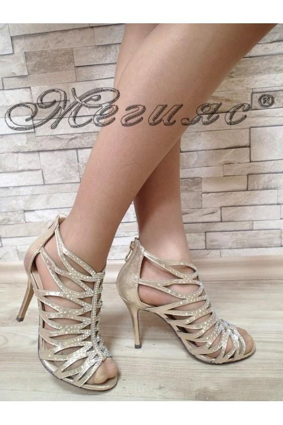 Дамски сандали Jeniffer S1720-50 златисти елегантни с висок ток