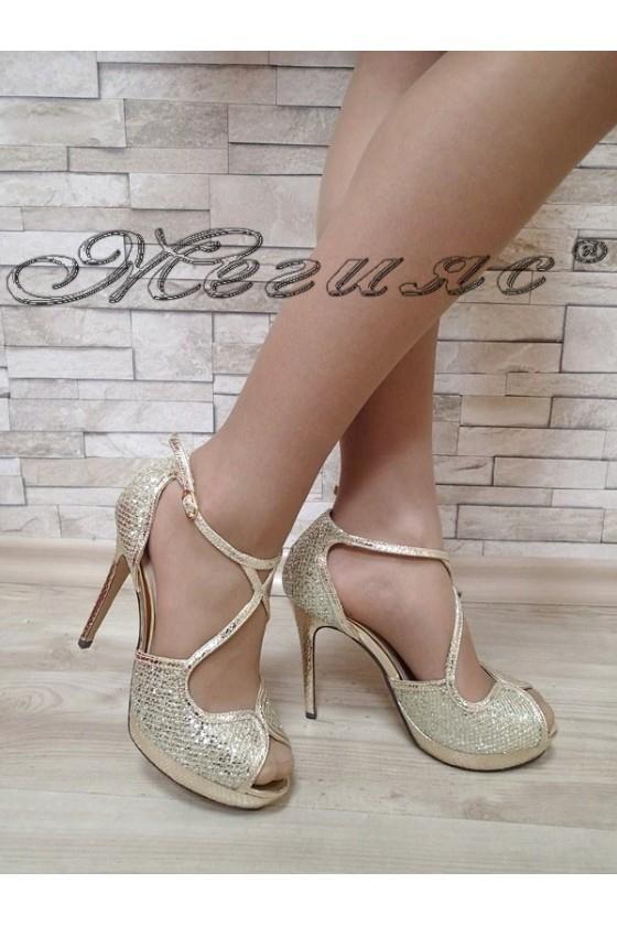 Дамски сандали Jeniffer S1720-70 златисти елегантни с висок ток