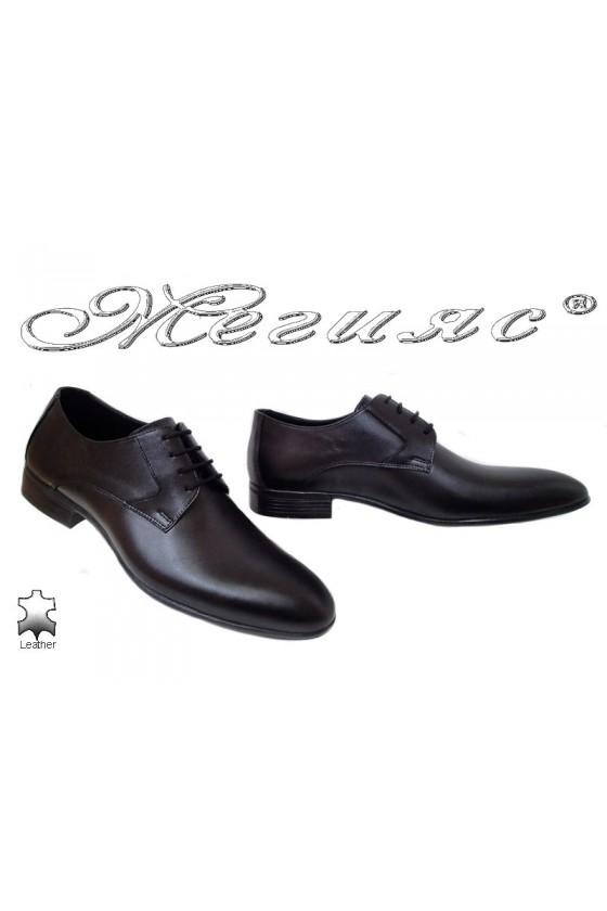 Мъжки обувки Фантазия 18000 черни от естествена кожа