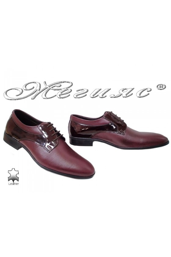 Men shoes 18021 bordo leather