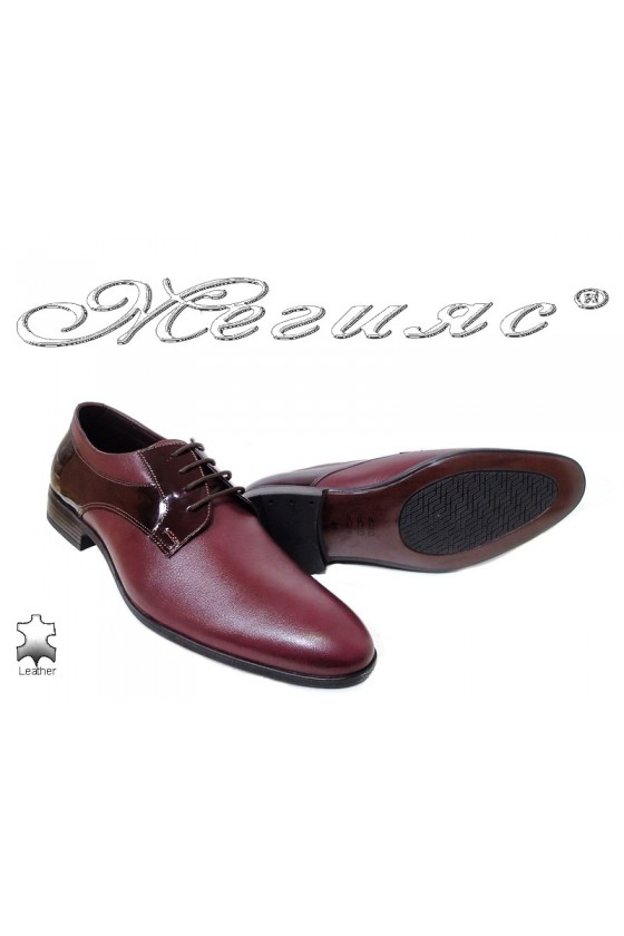 Men shoes 18021 bordo leather