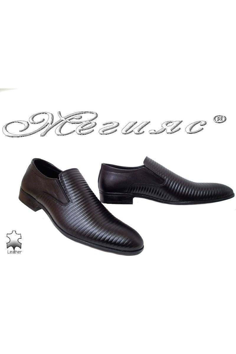 Мъжки обувки Фантазия 18024-219 черни от естествена кожа