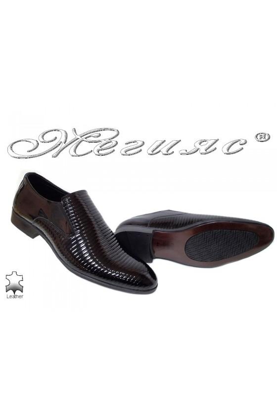 Мъжки обувки Фантазия 18024-219 черни от естествен лак