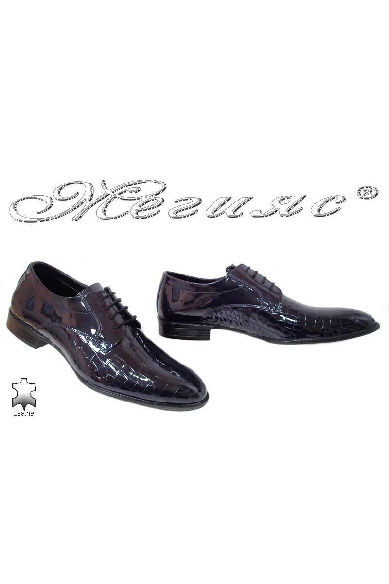 Men shoes 18141-216 blue leather