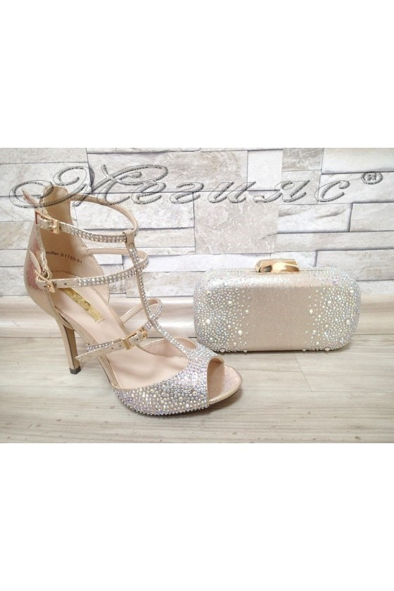 Lady sandals Jeniffer 1720-51 gold with bag 51