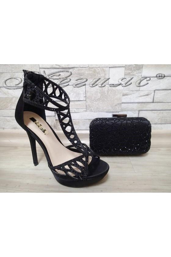 Lady sandals Jeniffer 1720-59 black with bag 50