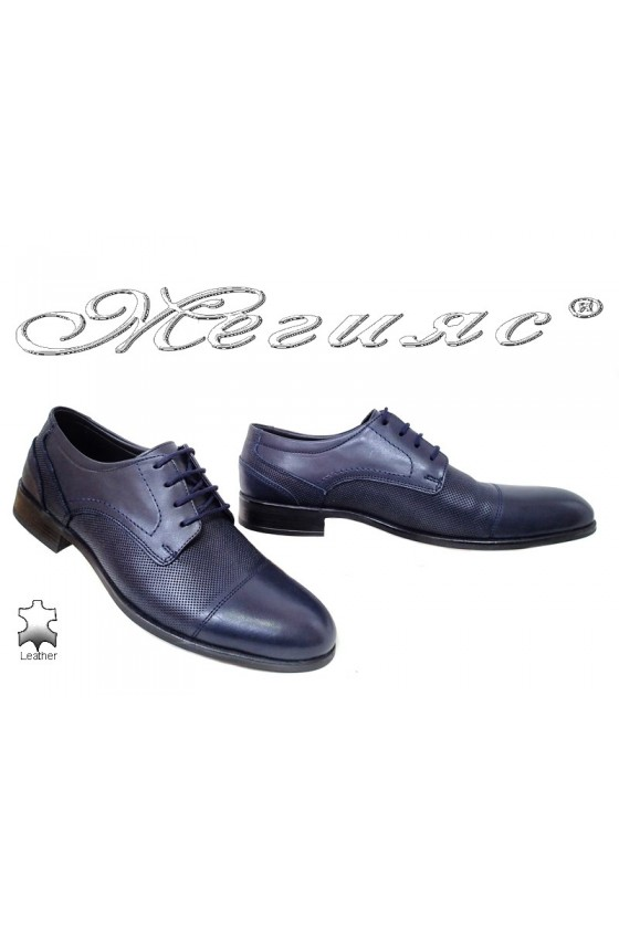 Men shoes 099-04 blue leather