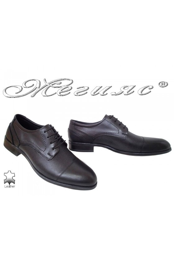 Men shoes 099-01 black leather