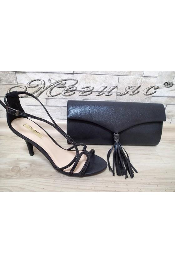 Lady sandals Jeniffer 1720-71 black with bag 71
