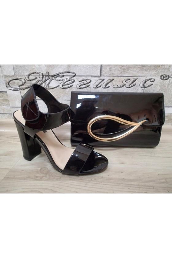 Lady sandals Jeniffer 1720-67 black with bag 64
