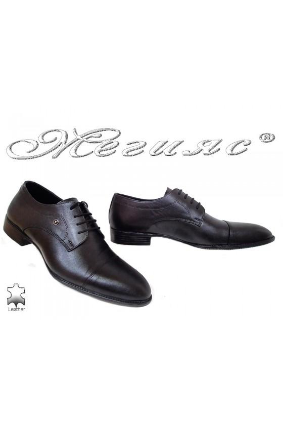 Men shoes 18143 black leather