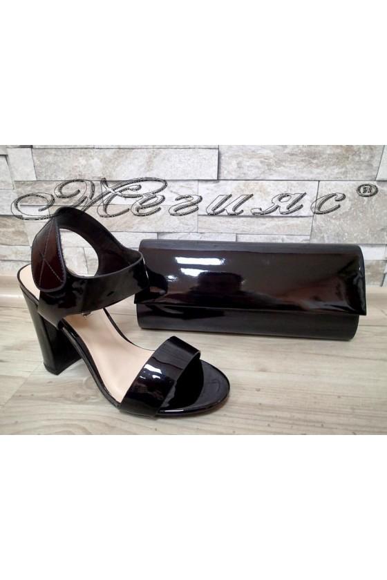Lady sandals Jeniffer 1720-67 black with bag 373