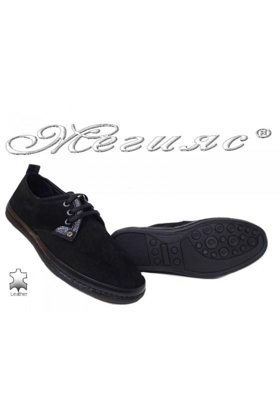 Men shoes 221/223 black leather