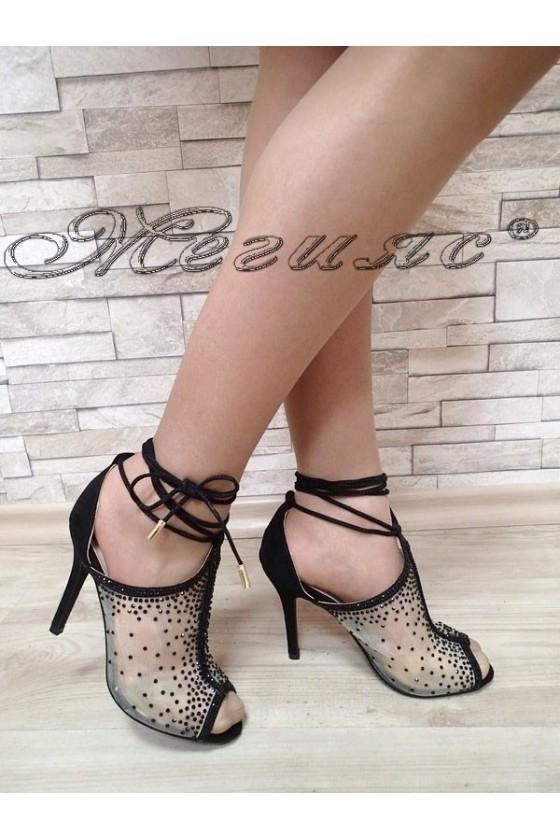 Дамски сандали Jeniffer S1720-58 черни елегантни с висок ток