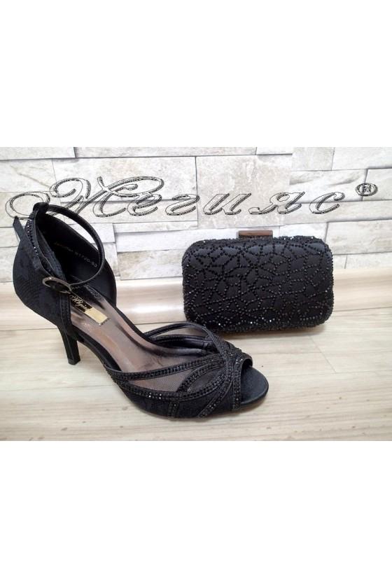 Lady sandals Jeniffer 1720-53 black with bag 53