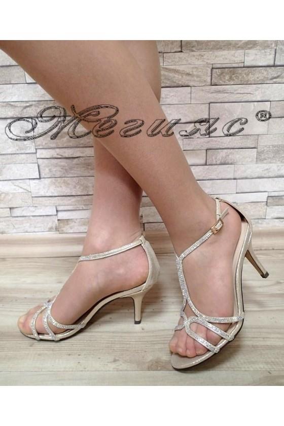 Дамски сандали Jeniffer S1720-71 златен сатен