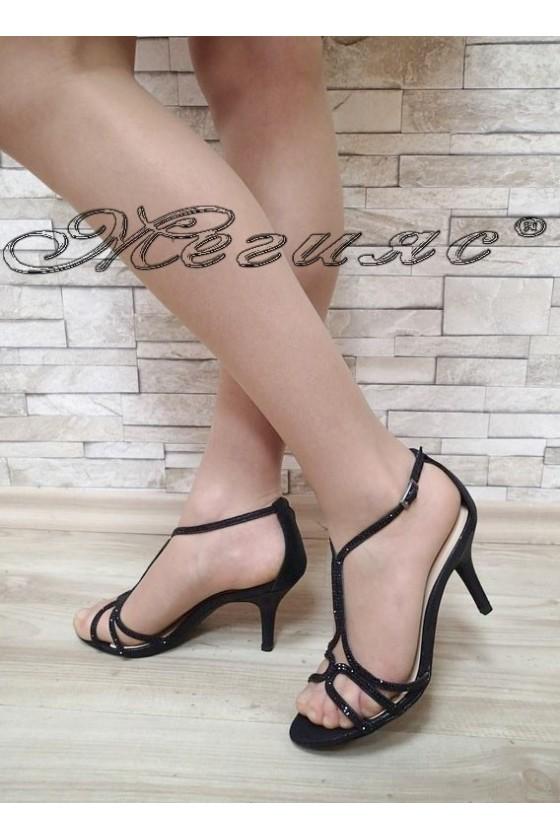 Дамски сандали Jeniffer S1720-71 черен сатен